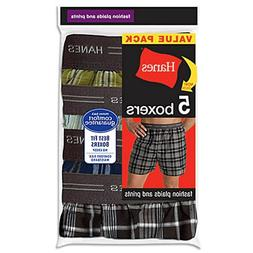 Hanes Men's Red Label Exposed Waistband Fashion Plaid Boxer