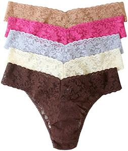 Hanky Panky Women's Low Rise Thongs 5 Pack, Fantasy Hues, On
