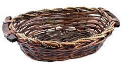 SALUS Oval Willow Wicker Basket, Gift Basket, Gift Tray, 13'