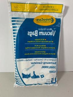 Samsung Canister Micro Filtration Vacuum Bags 5 Pack 3500, 5