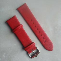 Short/Regular red SIGNATURE GENUINE LEATHER stitch-less WATC