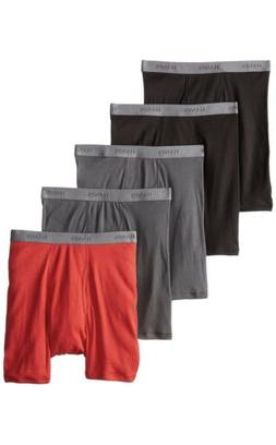 Hanes Tag less Boxer Briefs 5 Pack Mens Assorted Colors & Ba