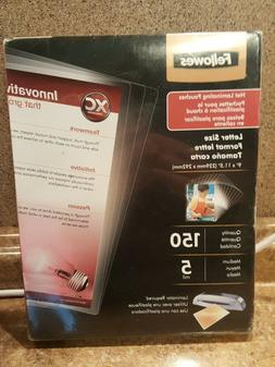 Fellowes Thermal Laminating Pouches ~ Letter Size ~ 5 Mil ~
