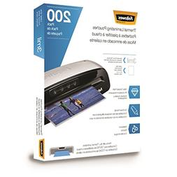 Fellowes Thermal Laminating Pouches, Letter Size 9 x 11.5-In