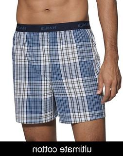 Hanes Ultimate Men's Plaid Boxers 5-Pack Assorted S