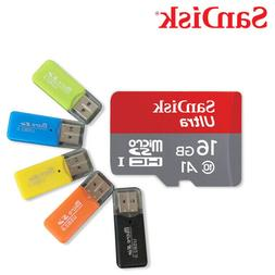 Sandisk Ultra 16GB Micro SDHC UHS-I Card with Adapter - 98MB