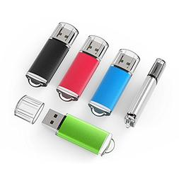 TOPSELL 5 Pack 2GB USB 2.0 Flash Drive Memory Stick Thumb Dr