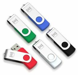 5 X MOSDART 8GB USB2.0 Flash Drive Swivel Bulk Thumb Drives