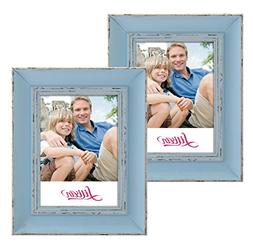 Lilian Vintage Light Blue Display 5x7 Desk/Wall Photo Frame