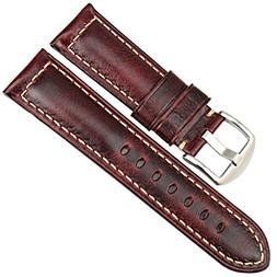 MAIKES Vintage Oil Wax Leather Strap Watch Band 5 Colors Ava