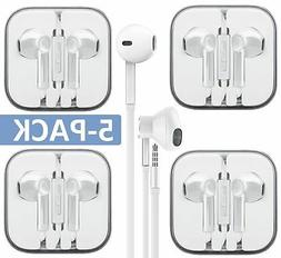 AURAL Wholesale 5-Pack Premium Earphones/Earbuds/Headphones