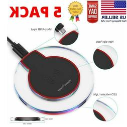 Wireless Charging Pad for iPhone XS/Max/XR/8/Plus Galaxy Not