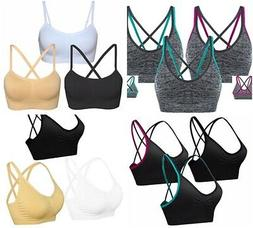 AKAMC Women's Removable Padded Sports Bras Workout Yoga Bra