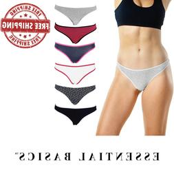 Women's Thong Panties Underwear with Soft Cotton | Comfortab
